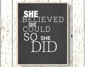 She believed she could so she did Q uote Family room wall art ...