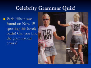 Celebrity Grammar Quiz Quotation Marks Quote by MikeJenny