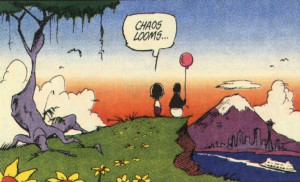 bloom county then outland and then just opus the penguin with weird ...