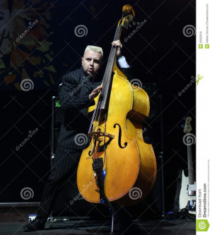 Resting Double Bass Player