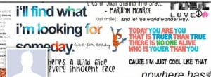 collage styled facebook cover photo of famous quotes and sayings for ...
