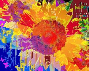 Sunflower Glory happy Birthday