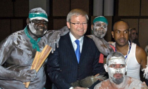 Kevin Rudd apologised to the stolen generations in 2008. Photograph ...
