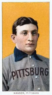 famous baseball player honus wagner baseball card