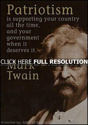 mark twain, quotes, sayings, patriotism, government