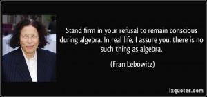 Fran Lebowitz Quote Poster