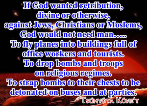Can we not see that the Old Testament is full of justification of wars ...