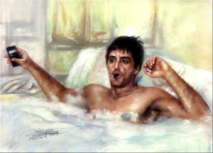 Tony Montana Tub Painting