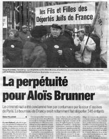 The newspaper France-Soir of March 3, 2001, announced the verdict.
