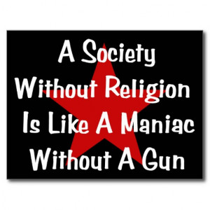 Anti Religion Quote Postcards