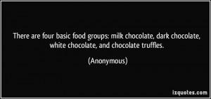 ... milk chocolate, dark chocolate, white chocolate, and chocolate