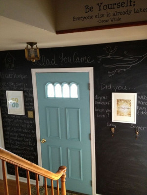 Primitive & Proper: Project Hallway: Chalkboard Wall Reveal