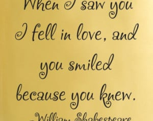 William Shakespeare When Saw You Fabulous Quotes Pic #14