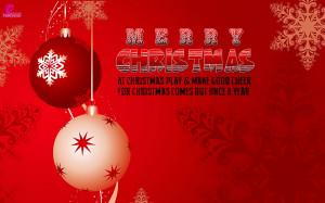 At Christmas Play & Make Good Cheer, For Xmas Comes But Once A Year ...