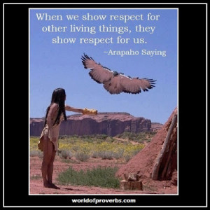 19461 Arapaho proverb show respect