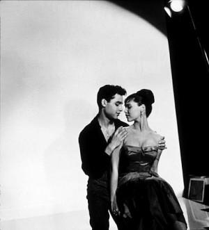 Sal Mineo and Yvonne Craig on the set of