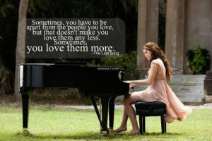 Famous love quotes from the last song