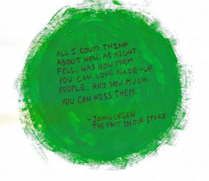 love mine quote green paint john green the fault in our stars