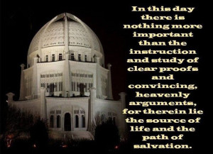 Baha'i quote for your contemplation.