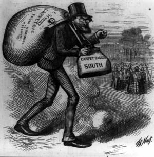 Carpetbagger, Harper's Weekly, 1872.