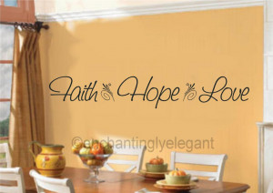 Details about Faith Hope Love Vinyl Decal Wall Sticker Words Quote ...