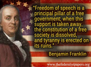 Benjamin Franklin Poster, Freedom of Speech