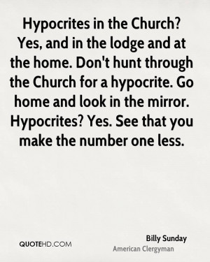 Quotes About Hypocrites in Church
