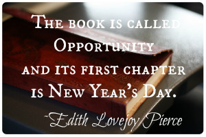 Book of Opportunity New Years Quote