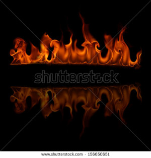 Halloween Red Burning Fire