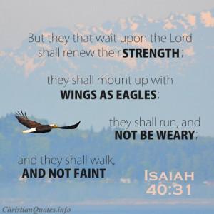 Isaiah 40:31 Scripture – Renewed Strength