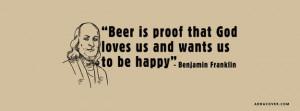 Beer Is Proof God Loves Us Facebook Cover