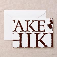 Take a Hike Paw Greeting Card for
