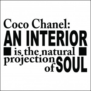 Coco Chanel An Interior Quote Wall Sticker