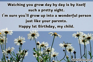 1st Birthday Quotes For My Son ~ 1st Birthday Wishes