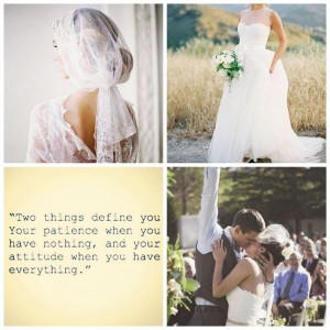 ... and illusion neckline wedding dress, first kiss, inspirational quote