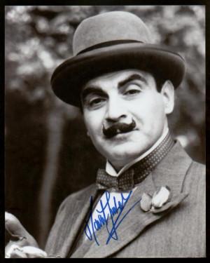 David Suchet Autograph Photo Display Poirot