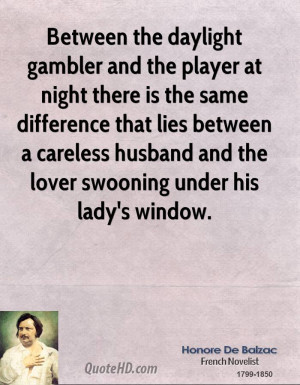 Between the daylight gambler and the player at night there is the same ...