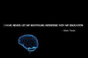 Mark Twain black background brain education quote 1280x1024