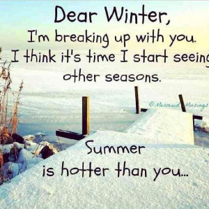 so sick of winter!!