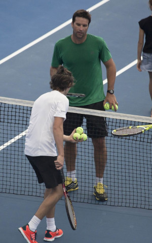 Rafter Gives Styles Tennis...