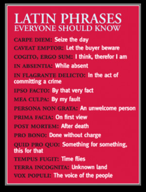 Latin phrases everyone should know'