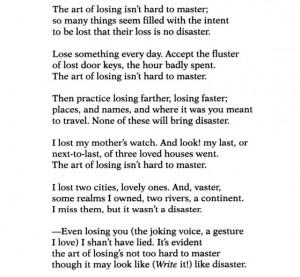 "Elizabeth Bishop, ""One Art"""