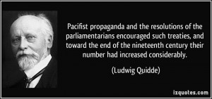 Pacifist propaganda and the resolutions of the parliamentarians ...