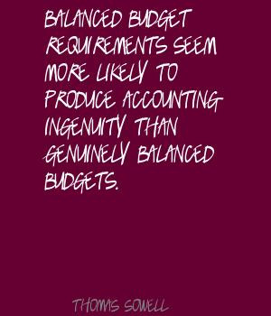 Balanced Budget quote #2