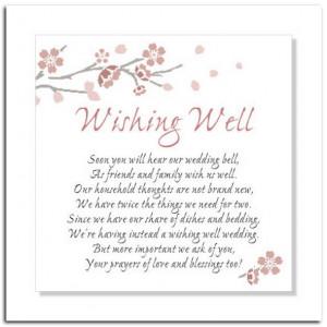Wedding Shower Wishing Well Sayings