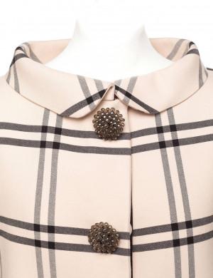 Balenciaga by Nicolas Ghesquiere striped couture evening jacket, Sz. S ...