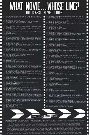 movie poster product id mpw 21909 description 101 classic movie quotes ...