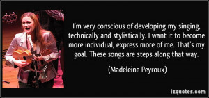 More Madeleine Peyroux Quotes