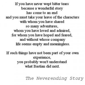 The Neverending Story quote - this book is a book about loving books ...