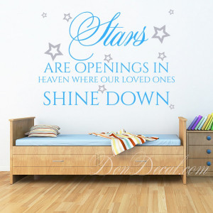 ... > Kids Room > Stars Are Opening In Heaven Wall Quotes Sticker Decal